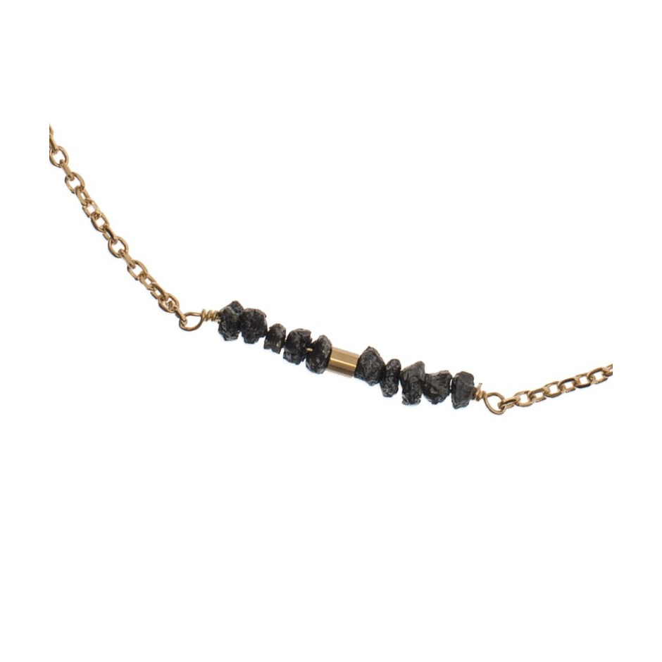 Collier Diamants noir & Or