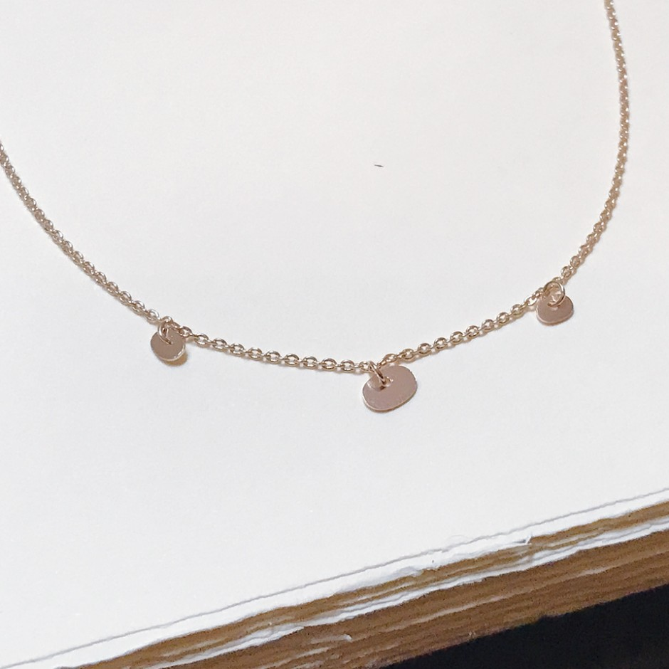 Collier Minis Galets, plaqué or